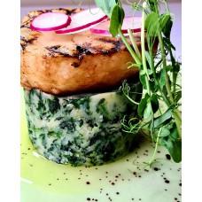 Stek z selera na puree  szpinakowo-ziemniaczanym